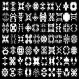 Kolekcja monochromatyczny abstrakt odizolowywał symbole dla twój projekta Zdjęcia Stock