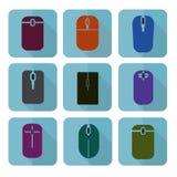 Kolekcja mysz w różnej formie i kolorze Obraz Stock