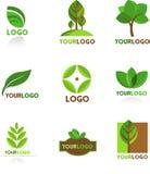 Kolekcja natura logowie i Obrazy Royalty Free