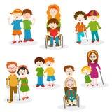 Kolekcja niepełnosprawni Obraz Stock