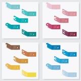 Kolekcja numerowy sztandaru szablon Obrazy Stock