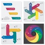 Kolekcja numerowy sztandaru szablon Zdjęcia Stock