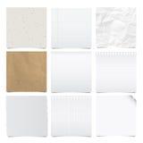 Kolekcja nutowych papierów tło. Fotografia Royalty Free