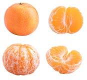 Kolekcja odizolowywająca z cieniem na białym tle mandarynka zdjęcie royalty free