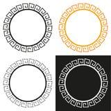 Kolekcja 4 odizolowywającej grek stylizującej ramy Fotografia Royalty Free
