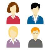 Kolekcja, ogólnospołeczni sieć charaktery Zdjęcia Stock