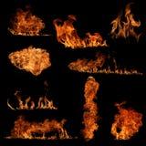 kolekcja ogień Zdjęcia Royalty Free