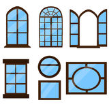 Kolekcja okno typ Zdjęcie Stock