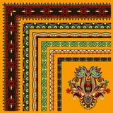 Kolekcja ornamentacyjna kwiecista rocznik rama Obrazy Stock