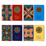 Kolekcja ornamentacyjne kwieciste wizytówki Zdjęcia Stock