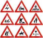 Kolekcja ostrzegać drogowych znaki używać w Malta ilustracji
