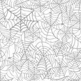 Kolekcja pajęczyna odosobniony przejrzysty wzór Spiderweb dla Halloweenowego projekta Pająk sieci elementy straszni i straszni royalty ilustracja