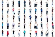 Kolekcja pełna długość urozmaicający ludzie obraz stock