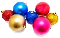 Kolekcja perfect kolorów bożych narodzeń piłki odizolowywać Obraz Stock