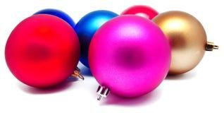 Kolekcja perfect kolorów bożych narodzeń piłki odizolowywać Obrazy Royalty Free