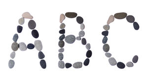 kolekcja pisze list dennych kamienie zdjęcie royalty free