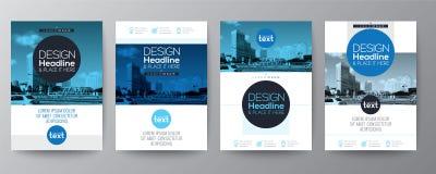 Kolekcja plakatowy ulotki broszurki pokrywy układu projekta szablon ilustracja wektor