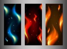 Kolekcja pożarniczy sztandary Obrazy Royalty Free