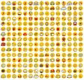 Kolekcja 225 podróż i turystyka doodled ikony Zdjęcie Royalty Free