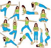 kolekcja pozuje joga Zdjęcie Royalty Free