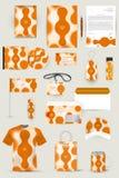 Kolekcja projektów elementy dla biznesu, reklamy lub unaocznienia korporacyjnej tożsamości, Obraz Royalty Free