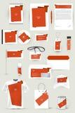 Kolekcja projektów elementy dla biznesu, reklamy lub unaocznienia korporacyjnej tożsamości, Obrazy Stock