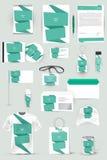 Kolekcja projektów elementy dla biznesu, reklamy lub unaocznienia korporacyjnej tożsamości, Zdjęcie Royalty Free