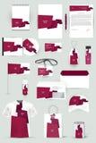 Kolekcja projektów elementy dla biznesu, reklamy lub unaocznienia korporacyjnej tożsamości, Fotografia Royalty Free