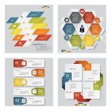 Kolekcja 4 projektów szablon, graficzny układ/ wektor royalty ilustracja
