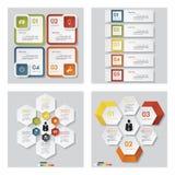 Kolekcja 4 projektów szablon, graficzny układ/ wektor ilustracja wektor