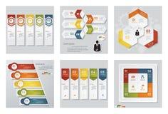 Kolekcja 6 projektów szablon, grafika lub strona internetowa układ/ Wektorowy tło Obraz Royalty Free
