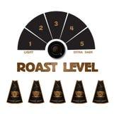Kolekcja projektować kawowe etykietki Obrazy Stock