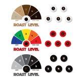 Kolekcja projektować kawowe etykietki Fotografia Royalty Free