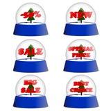 Kolekcja przejrzyste błękitne piłki z rabatem Obrazy Stock