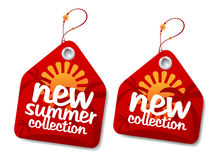 kolekcja przylepiać etykietkę lato Obraz Stock