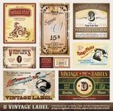 kolekcja przylepiać etykietkę rocznika Zdjęcia Royalty Free