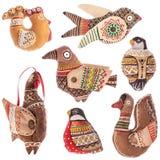 Kolekcja ptaki od tkanin Obraz Royalty Free