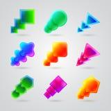 Kolekcja różne kolor postacie ilustracja wektor