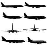 Kolekcja różne samolot sylwetki również zwrócić corel ilustracji wektora ilustracja wektor
