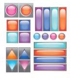 Kolekcja różni guziki ilustracja wektor