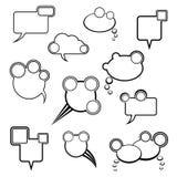 Kolekcja różni komiczni bąble ilustracji