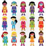 Kolekcja Różnorodna grupa bohater dziewczyny ilustracja wektor