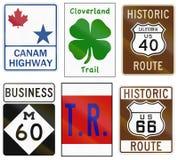 Kolekcja różnorodne o temacie autostrad osłony w USA ilustracja wektor