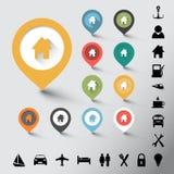Kolekcja różnorodni kolorów pointery Fotografia Stock