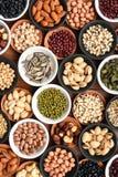 Kolekcja różni legumes fotografia royalty free