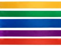 Kolekcja różnorodni kolorowi faborki Obraz Royalty Free