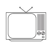 kolekcja redaguje retro prostego wektorowy tv rocznik Obraz Royalty Free