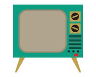 kolekcja redaguje retro prostego wektorowy tv rocznik Obrazy Royalty Free