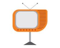 kolekcja redaguje retro prostego wektorowy tv rocznik Fotografia Royalty Free
