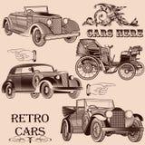 Kolekcja retro samochody Zdjęcie Stock